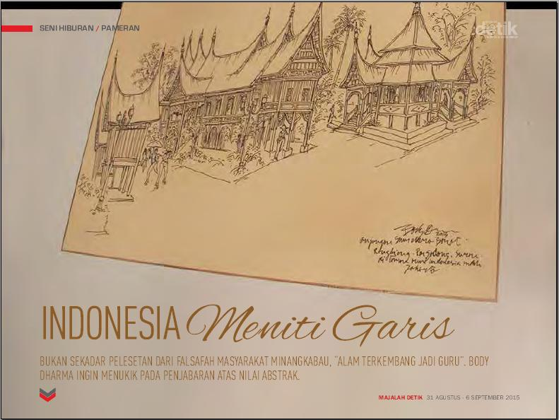 alam terkembang jadi garis, indonesia meniti garis