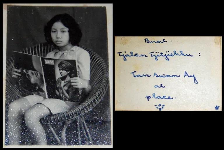 Buat Tjalon Tjitjiekku Tan Swan Ay. Foto didapat di salah satu rumah yang dibongkar di Pecinan Lasem, 2010. (Foto Silvia Galikano)