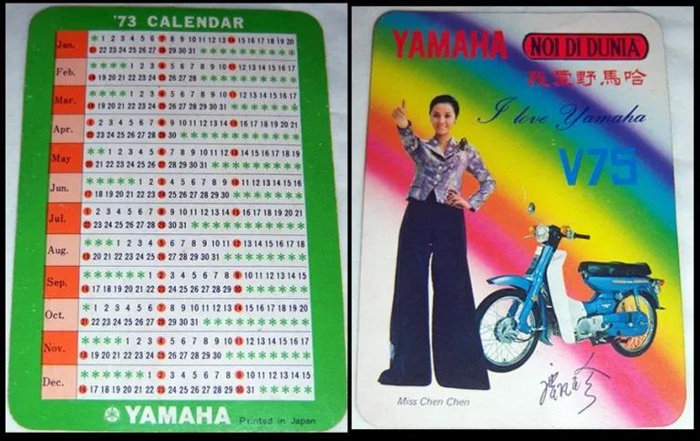Kalender saku 1973. Foto didapat di salah satu rumah yang dibongkar di Pecinan Lasem, 2010. (Foto Silvia Galikano)