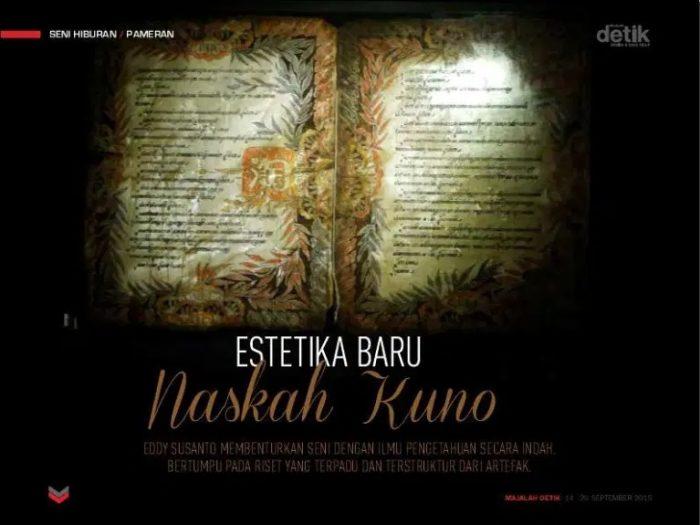 estetika baru naskah kuno, eddy susanto, javascript