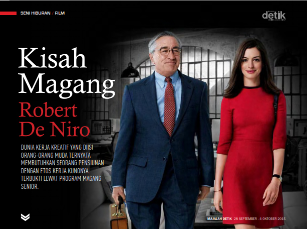 The Intern, Nancy Meyers, robert de niro