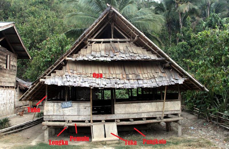 Nama bagian-bagian lobo di Desa Porelea, Kecamatan Pipikoro, Kabupaten Sigi, 2015. (Foto Silvia Galikano)