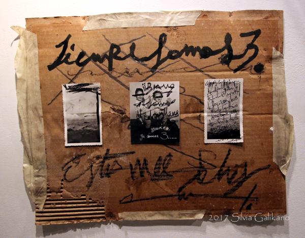 trujillo Siempre Somos Tres, mixed technique, collage, 50x40, 2017