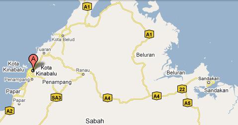 Peta Sabah, Malaysia